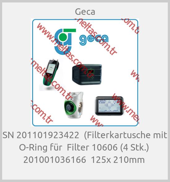 Geca - SN 201101923422  (Filterkartusche mit O-Ring für  Filter 10606 (4 Stk.)  201001036166  125x 210mm