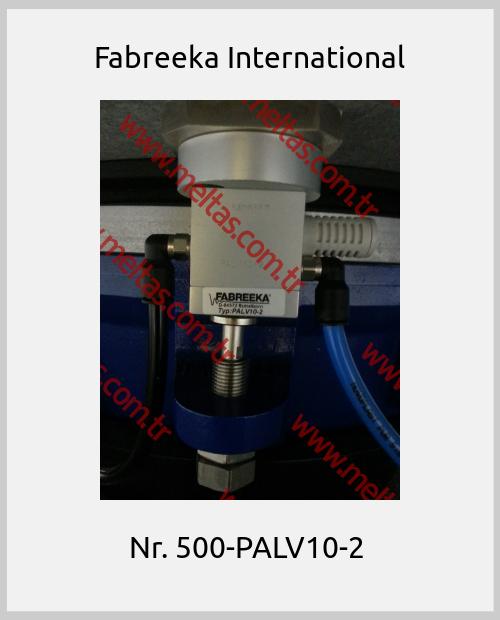 Fabreeka International -  Nr. 500-PALV10-2