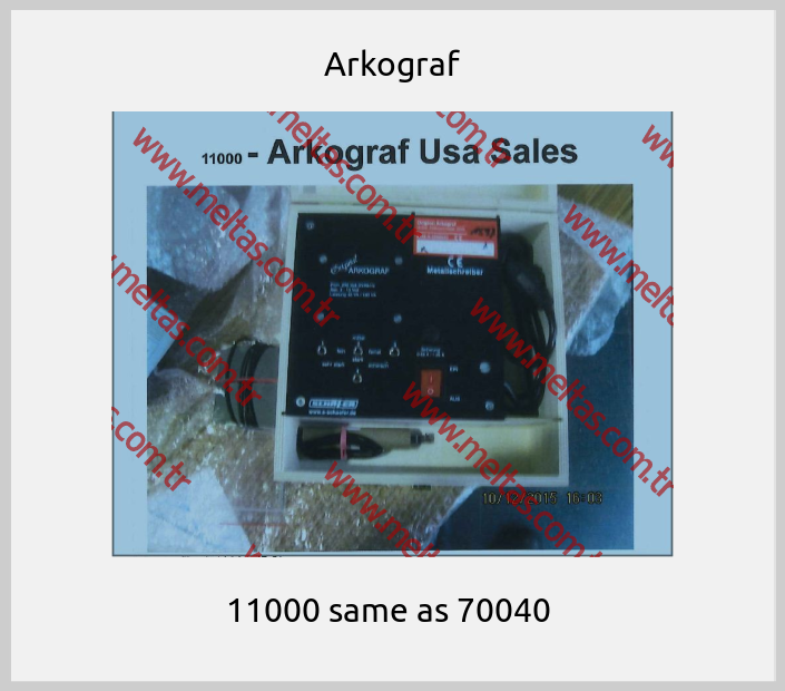 Arkograf - 11000 same as 70040