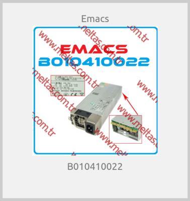 Emacs - B010410022