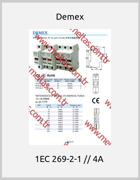 Demex - 1EC 269-2-1 // 4A