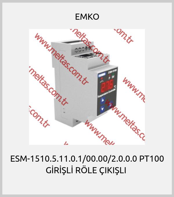 EMKO - ESM-1510.5.11.0.1/00.00/2.0.0.0 PT100 GİRİŞLİ RÖLE ÇIKIŞLI