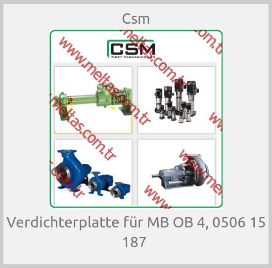 Csm - Verdichterplatte für MB OB 4, 0506 15 187